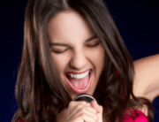 Girl Spitting out Consonants while Singing